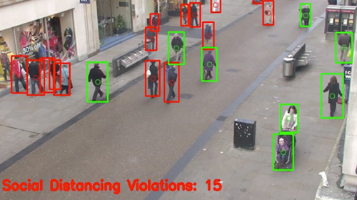 An AI-enabled system for detecting social distance breaches